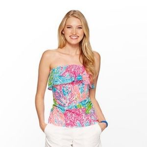 Lilly Pulitzer Wakely Printed Tube Top